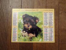 Calendrier La Poste 1995- Chiot/Chaton- Almanach Du Facteur