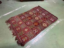 Tapis marocain en laine fait main - 1m60x1m08