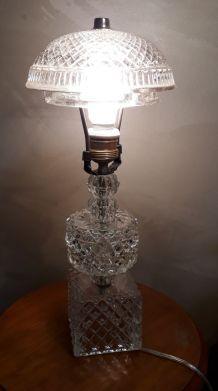 lampe cristal verre transluside de 1960 a70s