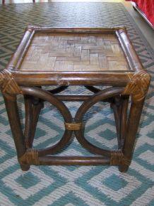 Petite table basse en rotin