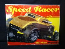 plaque métal hot rod speed racer 40 x 30 cm