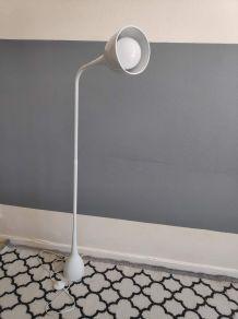 lampadaire métal blanc design articulé des années 80