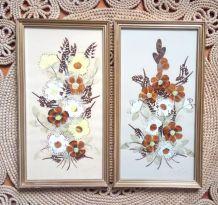 Deux cadres en véritables ailes de papillons - Art africain