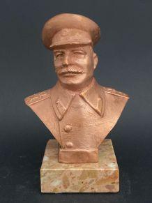 "Historique Collector ! ""Staline"" Statuette bronze URSS"