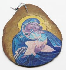 Icône byzantine sur ardoise