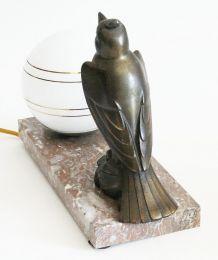 Lampe en marbre oiseau art deco