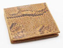 Porte monnaie en peau de serpent