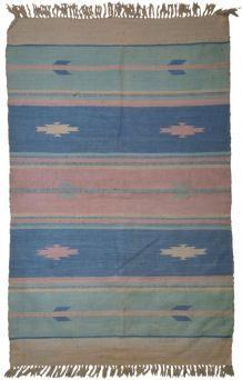 Tapis vintage Indien Dhurri kilim fait main, 1C70