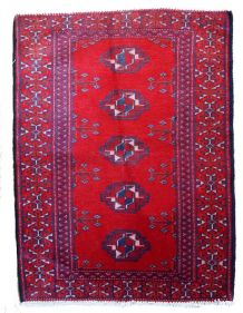 Tapis vintage Turkoman fait main, 1C204