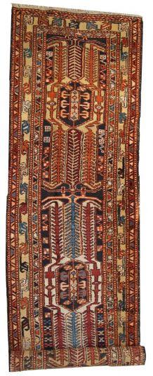 Tapis ancien Oriental fait main, 1C284