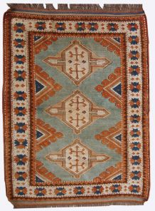 Tapis vintage Caucasien Kazak fait main, 1C324