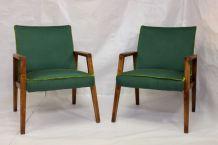 Paire de fauteuils vintage année 60 entièrement restaurée.