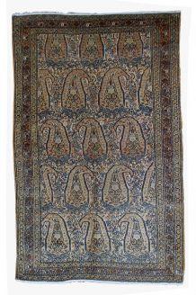 Tapis ancien Oriental fait main, 1B33