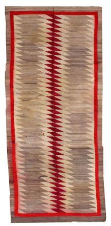 Tapis ancien Américain Indien Navajo fait main, 1B63