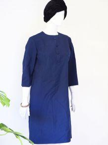 Robe Tergal laine mélangée babydoll Mod vintage 60's