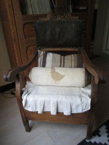 Fauteuil ancien chaise percée