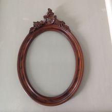 Cadre ovale en bois