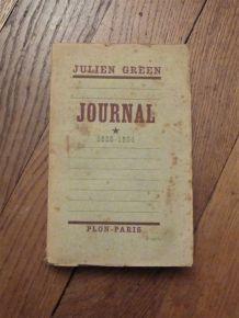 Journal- 1928-1934- Tome 1- Julien Green- 1938