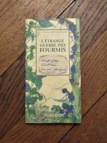 L'Etrange Guerre Des Fourmis- Hubert Nyssen-Actes Sud Junior