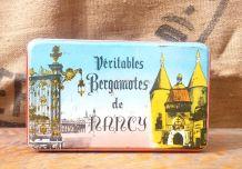 """Boite en tôle lithographiée """"Véritables bergamotes de Nancy"""""""