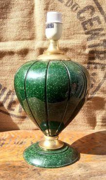 Jolie pied de lampe en céramique signée Robert de Schuytener