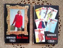 2 Almanachs Mode et Travaux 1964 et 1965