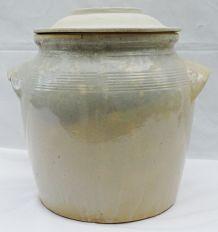 Pot à confit beige bleuté n°6