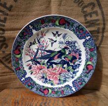 Grand plat/assiette décorative en faïence