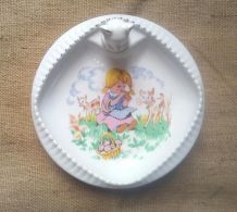"""Assiette """"maintien au chaud"""" en porcelaine de Limoges"""