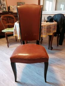 Lot 6 chaises Jules leleu