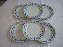 6 assiettes plate Limoges Legrand