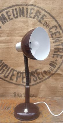 Lampe de bureau en métal et plastique -Années 70