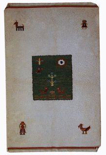 Tapis vintage Oriental fait main, 1C344
