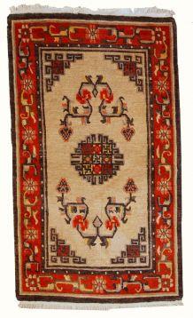 Tapis vintage Mongol fait main, 1C349