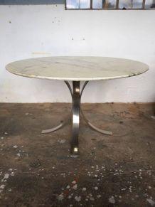 Table marbre et acier ROCHE BOBOIS 1974