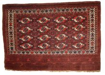 Tapis ancien Turkmène Tekke fait main, 1B353