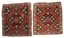 Paire de tapis ancien Arménien Karabakh fait main, 1B358