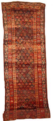 Tapis ancien Oriental fait main, 1B445