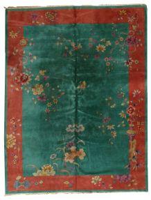 Tapis ancien Chinois Art Deco fait main, 1B462