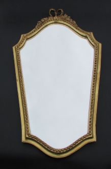 miroir doré style Louis XVI plâtre