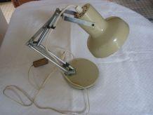 Lampe de bureau articulee beige
