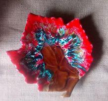 Céramique Vallauris en forme de feuille