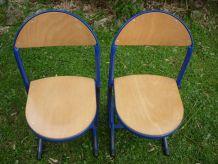 Paire de chaises enfant ecolier