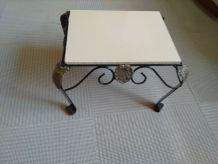 Table basse avec fer forgé très rustique