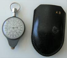 Curvimètre opisometer vintage étui cuir calcul échelle plan