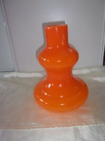 Suspension en opaline orange