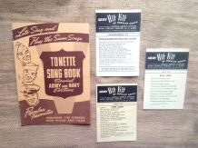 "Tonette song book"" & ""Hit kit of populars songs"" - USA Army"