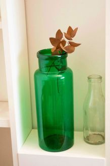 Grand bocal ancien en verre soufflé