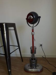 lampe vintage avec pied de cireuse création unique