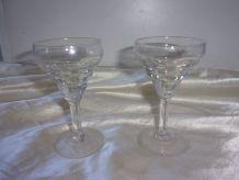 2 petits verre bistrots à liqueur en verre